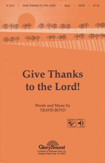 Give Thanks to the Lord anthem cover