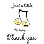 Thank you music notes