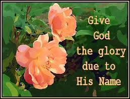 give God the glory