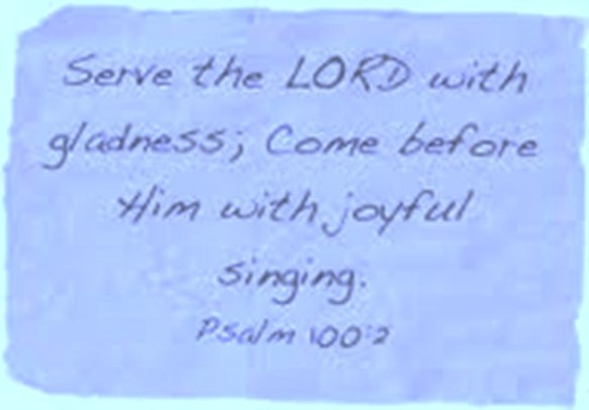 Serve Him with gladness
