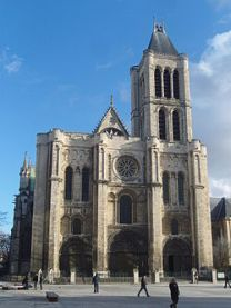 West facade of the Basilica of Saint-Denis, in a northern suburb of Paris