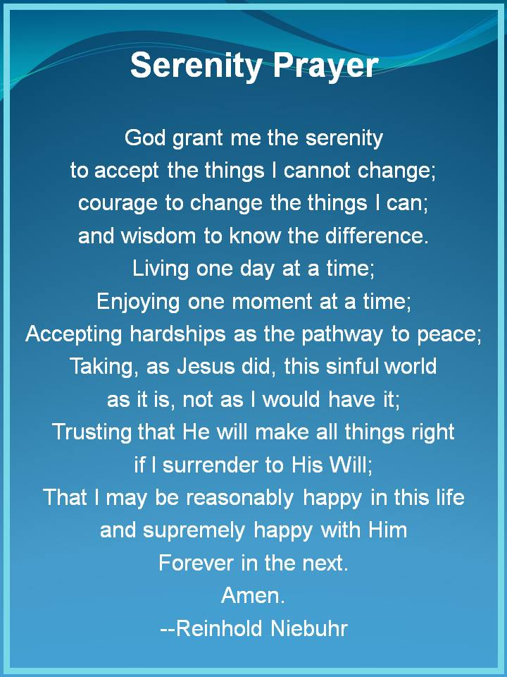 serenity prayer full version