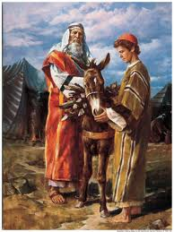 Artistic depiction of Abraham and Isaac