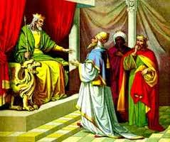 The wise men consult with Herod about where the new King might be found