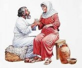 Artistic depiction of Zechariah with Elizabeth