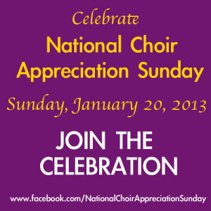 Click the image above to go directly to the official facebook page for National Choir Appreciation Sunday