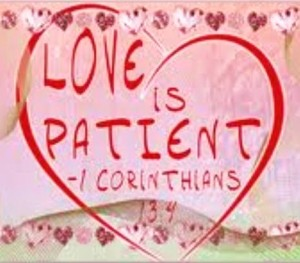 Love is patient  with heart  cropped