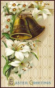 Easter greeting card with bells