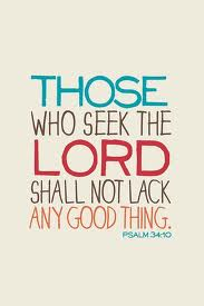 Those who seek the Lord