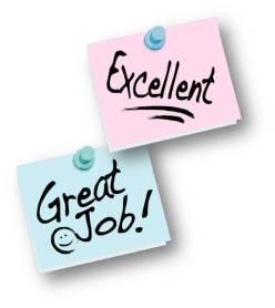 praise  good job  excellent
