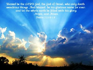 blessed is the Lord God