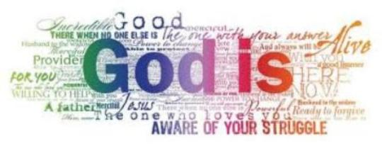God is ... header