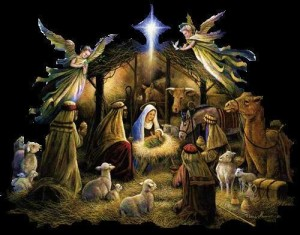 shepherds at the manger