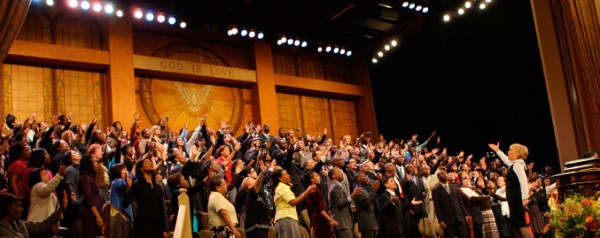 "The 280 voice Brooklyn Tabernacle Choir, Brooklyn, NY, under the direction of Carol Cymbala, recorded 2 CDs in 2013, ""Redeemed"" and ""Love Lead the Way""."