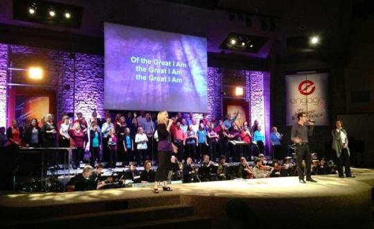 The Mount Pleasant Christian Church Choir in Indianapolis, IN, directed by Brian Tabor, September, 2013.