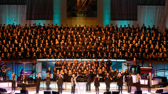 The Prestonwood Baptist Church Worship Choir, Plano, TX, directed by Worship Pastor Todd Bell