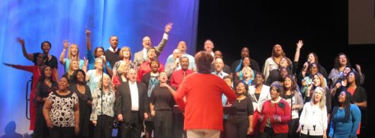 The Trinity Worship Choir from Trinity Church (Assembly of God), Cedar Hill, TX, Minister of Worship Jeff Sparkman