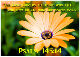 Ps. 145 14 Lord upholds and lifts up