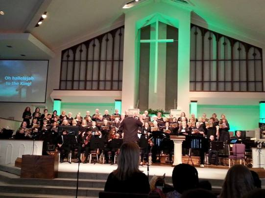 FBCD Sunday Night Live 2015 Choir and orch Hallelujah to the King T Rhe photo